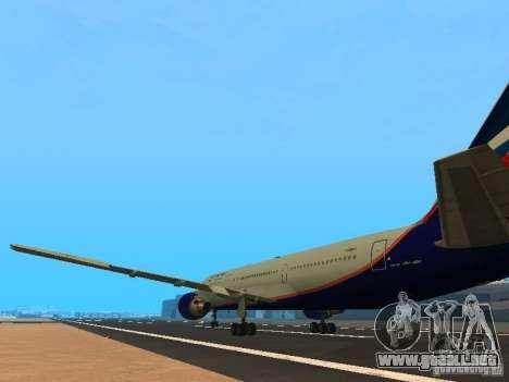 Boeing 767-300 Aeroflot para GTA San Andreas vista posterior izquierda