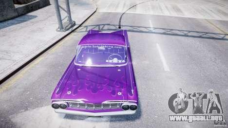 Chevrolet Impala 1959 para GTA 4 ruedas