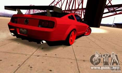 Shelby GT500 KR para la visión correcta GTA San Andreas