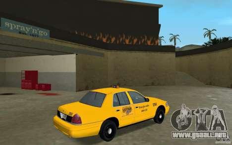 Ford Crown Victoria Taxi para GTA Vice City visión correcta