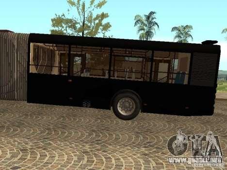 Trailer de Liaz 6213.70 para GTA San Andreas vista posterior izquierda
