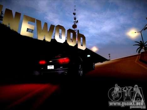 Chevrolet Camaro SS para visión interna GTA San Andreas