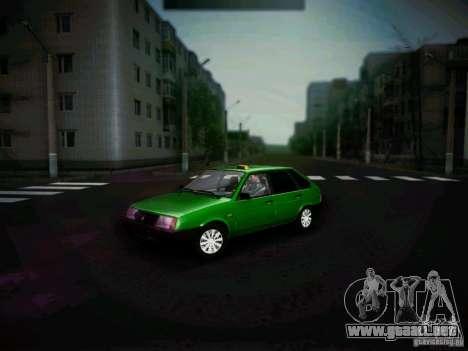 Taxi Vaz 2109 corto-kryloe para GTA San Andreas left
