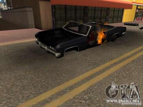 Wrecked car fix para GTA San Andreas segunda pantalla