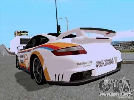 Porsche 997 GT2 Fullmode para GTA San Andreas vista posterior izquierda