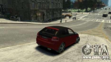 Audi BS3 O.CT Tuning para GTA 4 Vista posterior izquierda