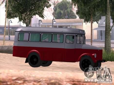 KAVZ 651A para GTA San Andreas vista hacia atrás