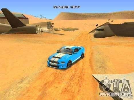 Ford Shelby GT500 para la vista superior GTA San Andreas