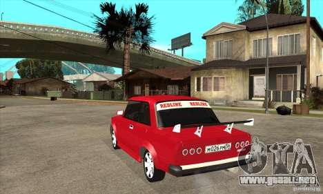 Coupe de 2 puertas VAZ 2101 para GTA San Andreas vista posterior izquierda