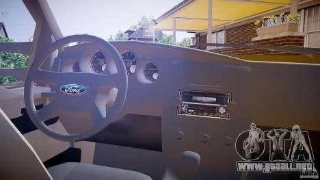 Ford F350 Stock para GTA 4 vista hacia atrás