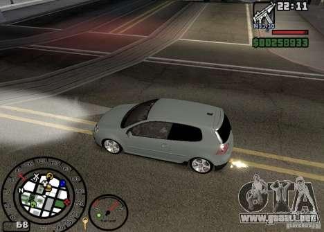 El fuego de los tubos de escape v2.0 para GTA San Andreas quinta pantalla