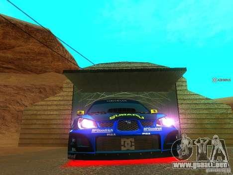 Subaru Impreza Gymkhana Practice para GTA San Andreas left