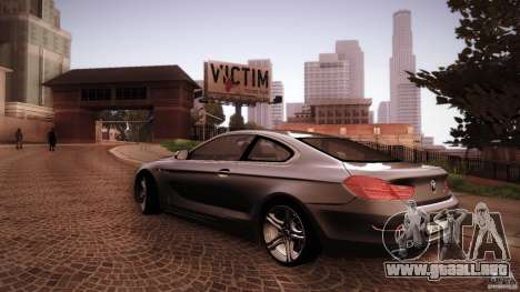 BMW 640i Coupe para vista lateral GTA San Andreas