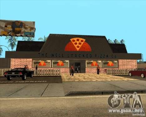 Pizzeria nueva en IdelWood para GTA San Andreas