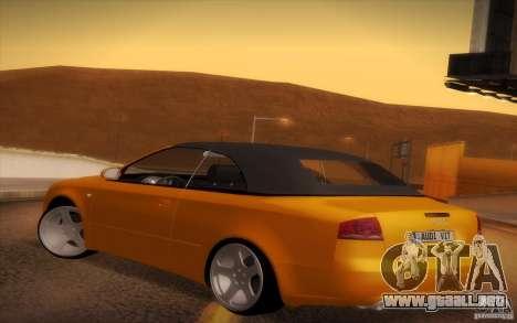 Audi A4 Cabrio para la visión correcta GTA San Andreas