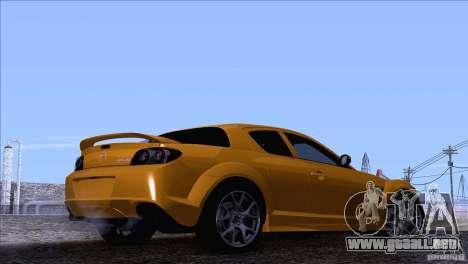 Mazda RX8 R3 2011 para GTA San Andreas left