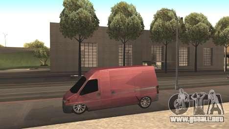 Peugeot Boxer para GTA San Andreas left
