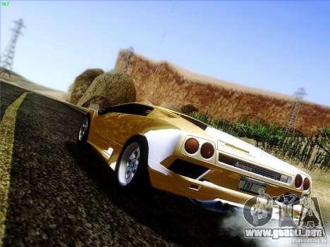 Lamborghini Diablo VT 1995 V3.0 para GTA San Andreas vista posterior izquierda