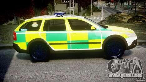 Skoda Octavia Scout Paramedic [ELS] para GTA 4 vista hacia atrás