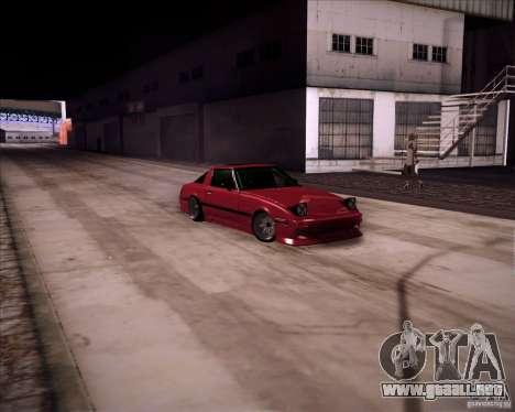 Mazda RX7 FBS3 para GTA San Andreas vista posterior izquierda
