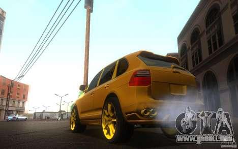Porsche Cayenne gold para GTA San Andreas left