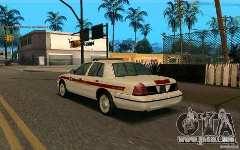 Ford Crown Victoria South Dakota Police para GTA San Andreas left