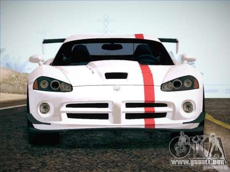 Dodge Viper SRT-10 ACR para las ruedas de GTA San Andreas