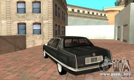 Cadillac Deville v2.0 1994 para GTA San Andreas vista posterior izquierda