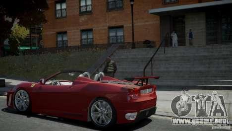 Ferrari F430 Spider para GTA 4 left