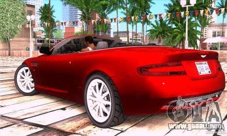 Aston Martin DB9 para GTA San Andreas left