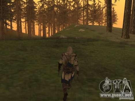 Connor From ACIII para GTA San Andreas sucesivamente de pantalla