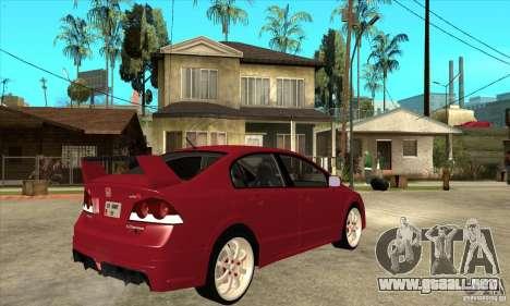 Honda Civic Mugen RR para la visión correcta GTA San Andreas