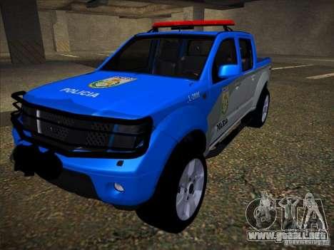Nissan Frontier PMERJ para visión interna GTA San Andreas