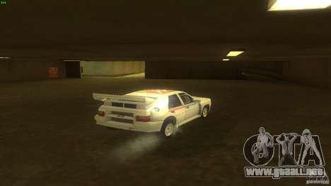 Citroen BX 4TC para GTA San Andreas vista posterior izquierda