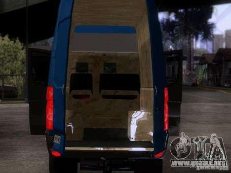 Volkswagen Crafter XL para visión interna GTA San Andreas