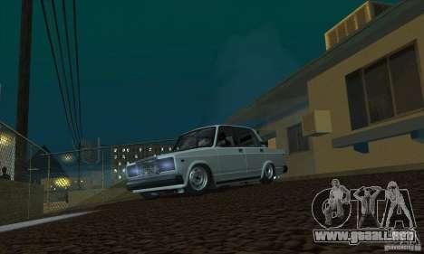VAZ 2107 acuario para la visión correcta GTA San Andreas