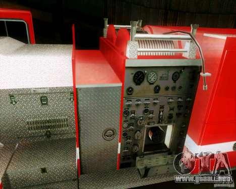 Pumper Firetruck Los Angeles Fire Dept para la visión correcta GTA San Andreas