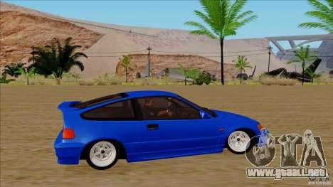 Honda CRX Hella Flush para GTA San Andreas vista hacia atrás