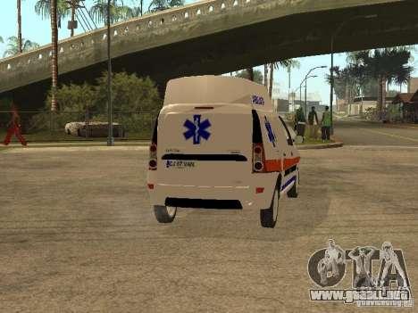 Dacia Logan Ambulanta para la visión correcta GTA San Andreas
