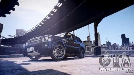 Range Rover Sport para GTA 4 Vista posterior izquierda