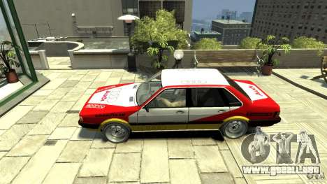 Audi 80 B2 Quattro Rally para GTA 4 left