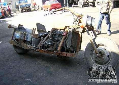 Harley Davidson Home-Made para GTA 4 visión correcta