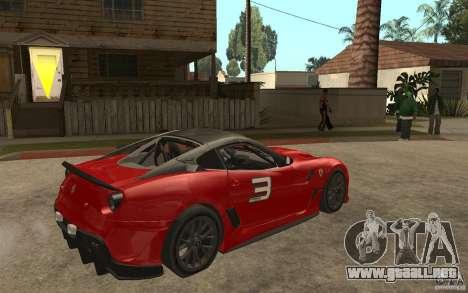 Ferrari 599xx 2010 para la visión correcta GTA San Andreas