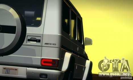 Mercedes-Benz G65 AMG 2013 para visión interna GTA San Andreas