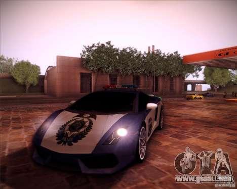Lamborghini Gallardo LP560-4 Undercover Police para GTA San Andreas