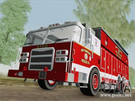 Pierce Walk-in SFFD Heavy Rescue para GTA San Andreas left