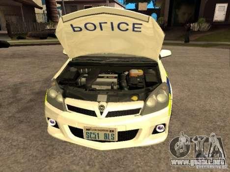 Opel Astra 2007 Police para la visión correcta GTA San Andreas