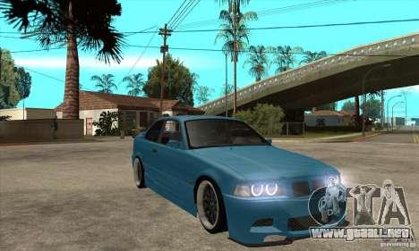 BMW M3 HAMMAN para GTA San Andreas vista hacia atrás