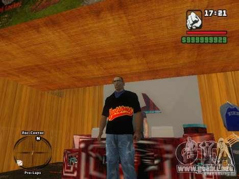 LA camiseta MIZ para GTA San Andreas