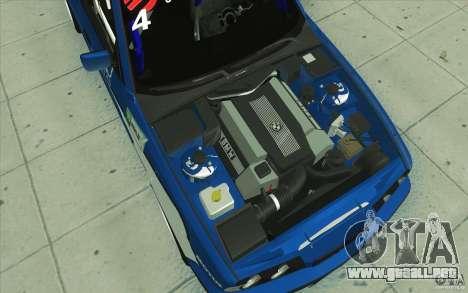 BMW E34 V8 para vista inferior GTA San Andreas